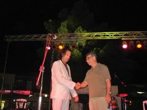 Ο Δήμαρχος Δημήτρης Δριμής υποδέχεται τον Χρήστο Παπαδόπουλο