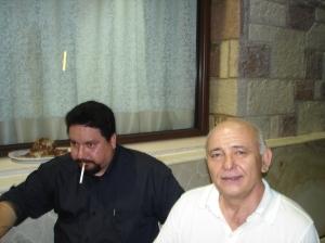 Ο νομάρχης μας Δημήτρης Δράκος με τον Ηλία Γιαννόπουλο.