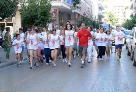 Αποτέλεσμα εικόνας για 14η Πανελλήνια Λαμπαδηδρομία Εθελοντών Αιμοδοτών